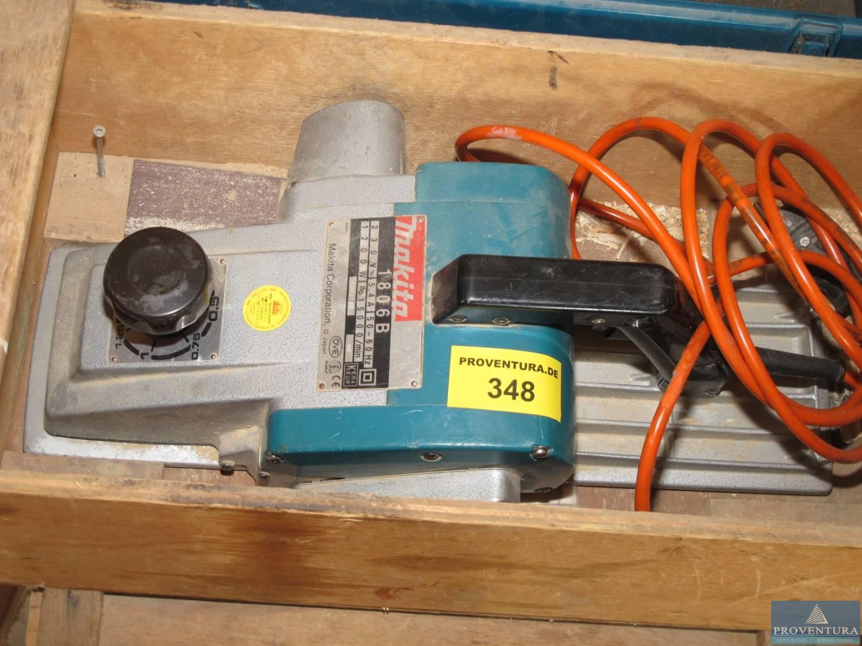 elektro-handhobel makita 1806 b | proventura online-auktion