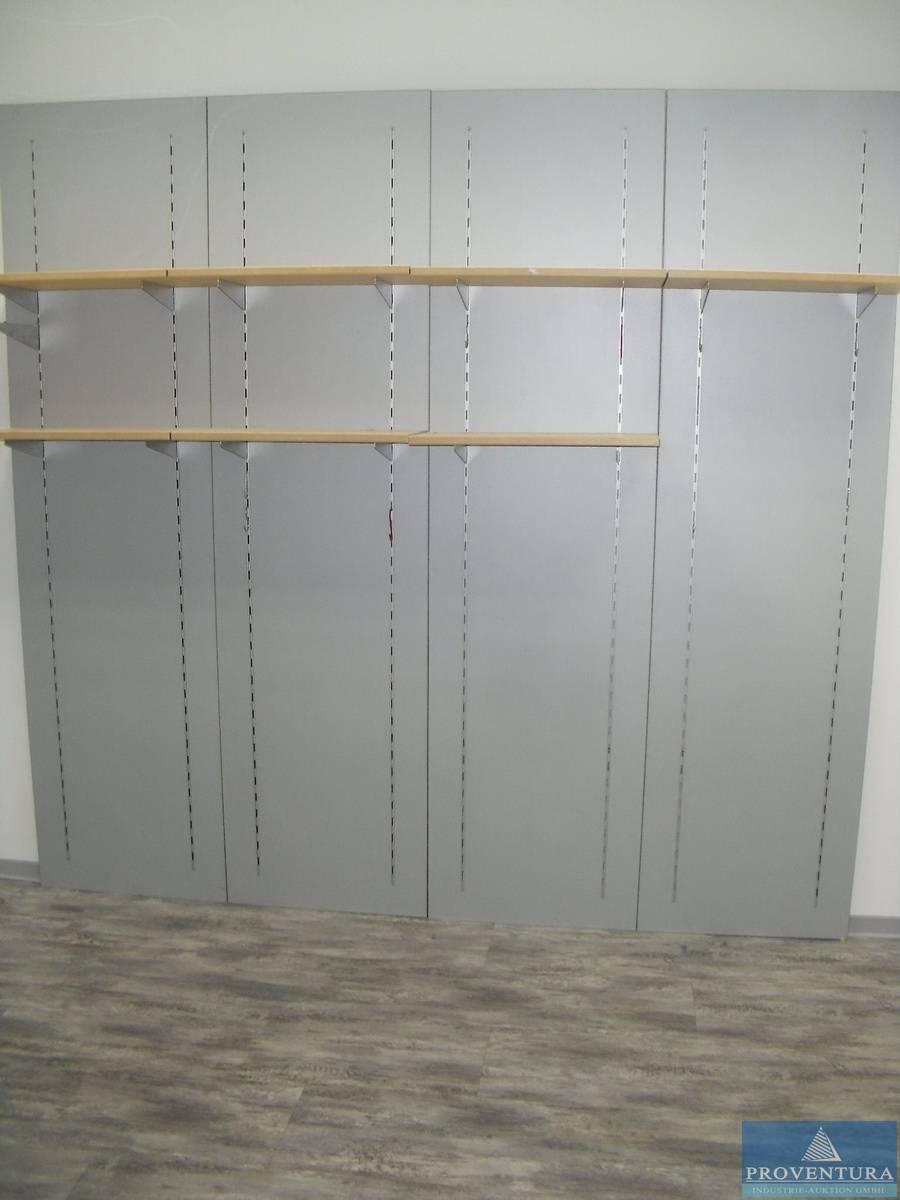Wandregalsystem metall  Proventura Online-Auktion - Wandregalsystem Metall grau