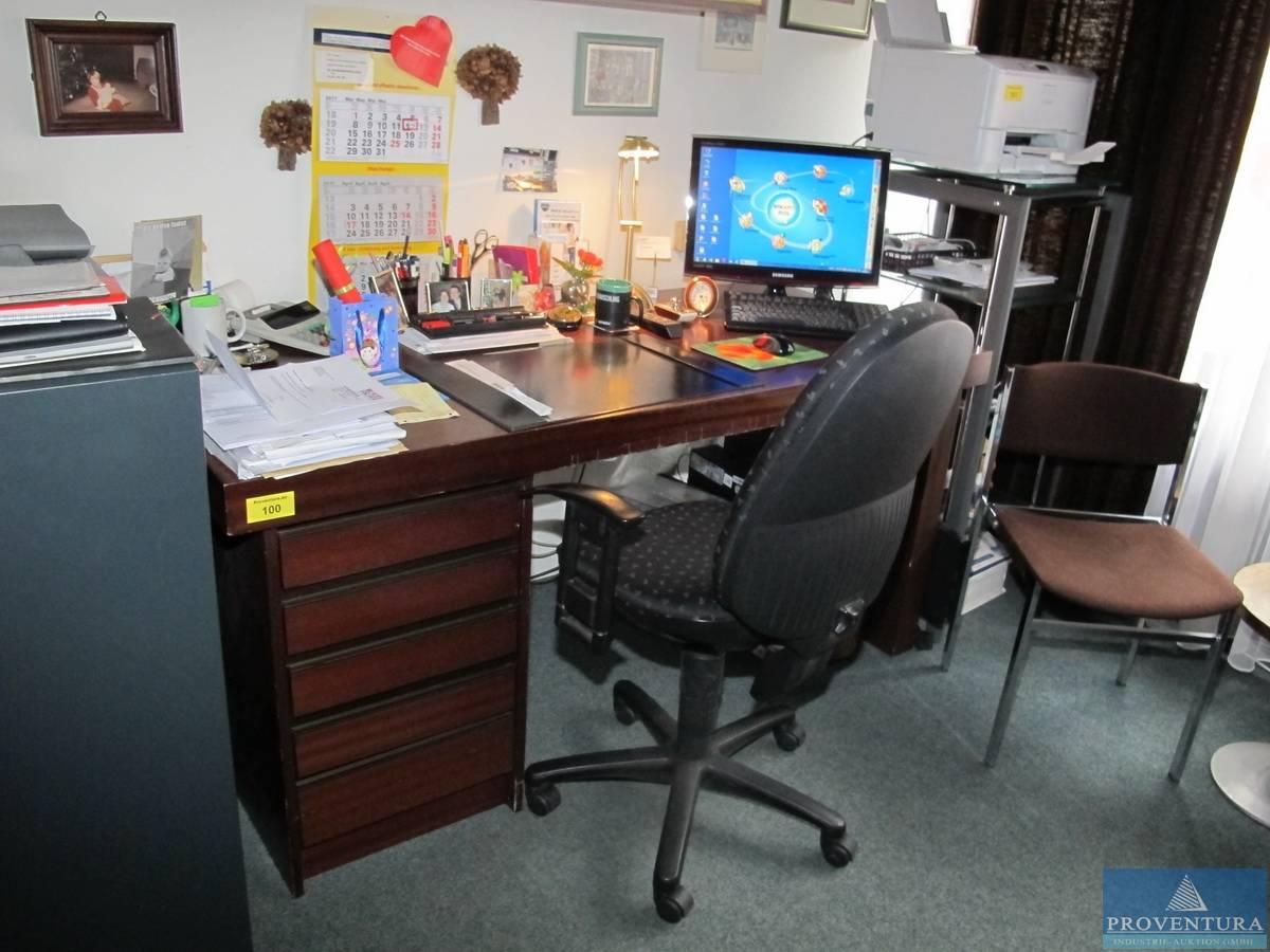 Schreibtisch holz dunkel  Proventura Online-Auktion - Schreibtisch Holz dunkel