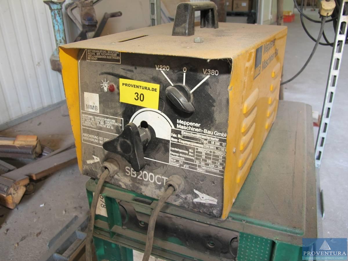 elektro-schweißgerät mmb sb 200ct | proventura online-auktion