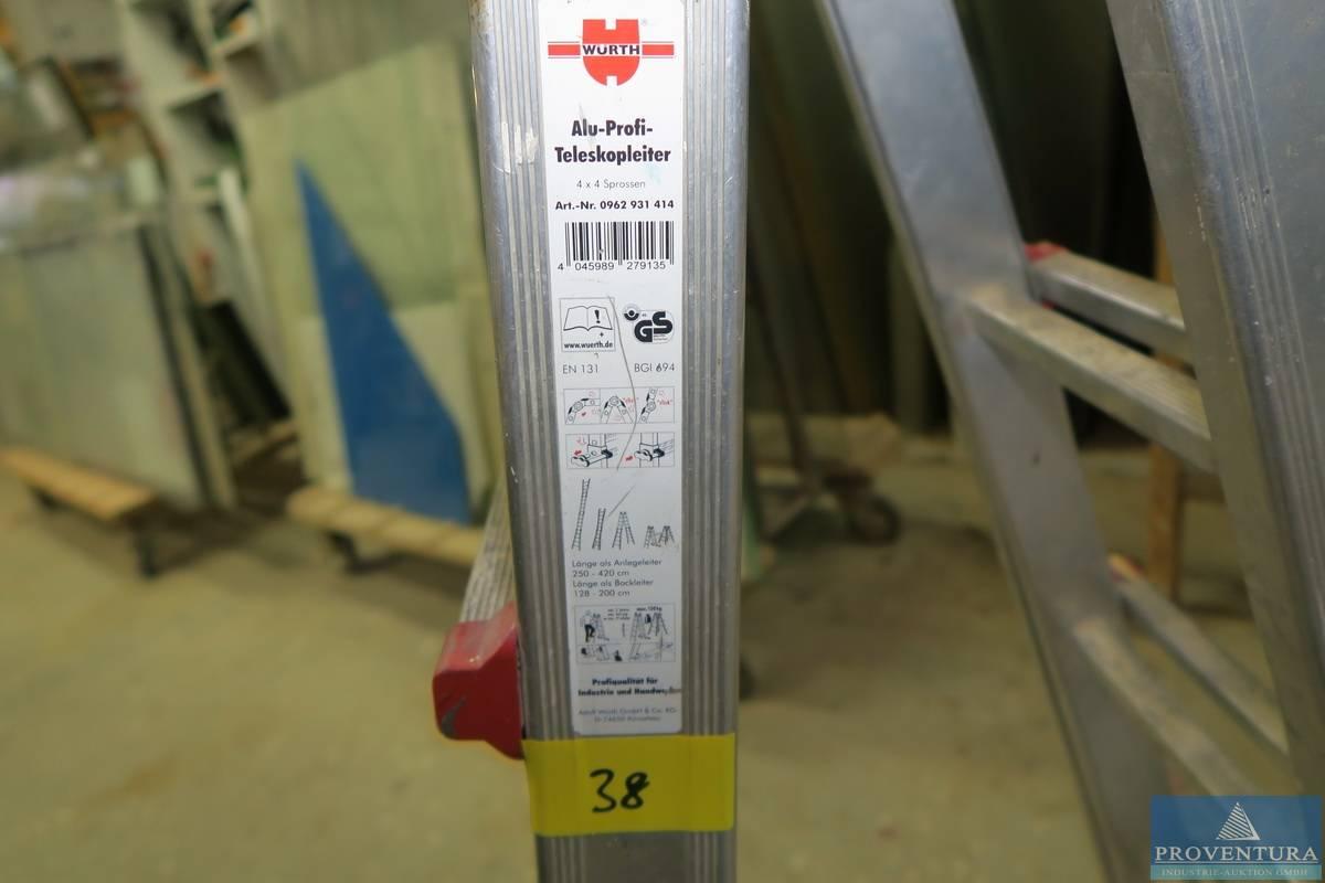 Profi teleskopleiter wÜrth aluminium proventura online auktion